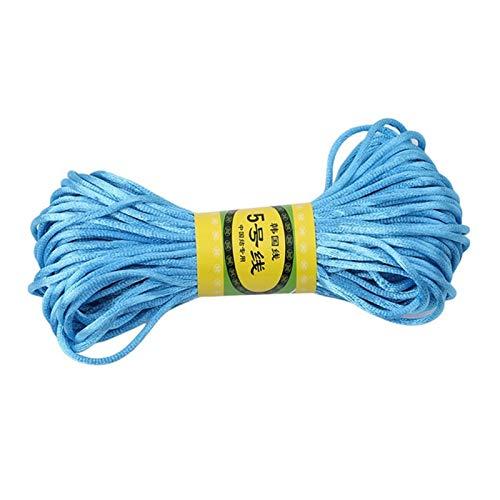 Xpwoz 20M / DIY Cuerda de Nylon Cuerda de Cuentas de Collar Pulsera Accesorios (Color : Blue)