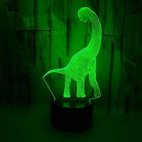 3D Led Jurassic World Long Neck Dinosaur Lamp USB Animal Home Decor Lighting Kid Gift Bedroom Night Light Multicolor Table Desk