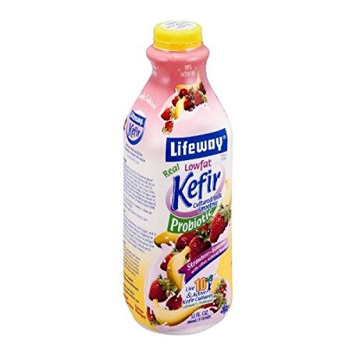 Lifeway Lowfat Kefir, Strawberry Bannana, 32 Ounce (Pack of 06)