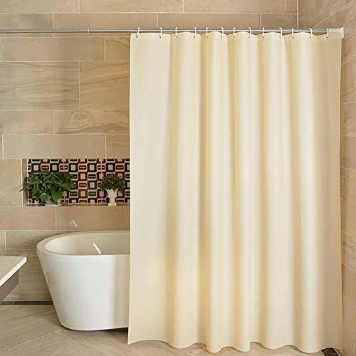 KWOPA PEVA Wasserdicht Badezimmer Duschvorhänge,Hellgelb Für Badezimmerduschen Badewannen Dekorative Gardinen Duschvorhang Liner,(71x71zoll)