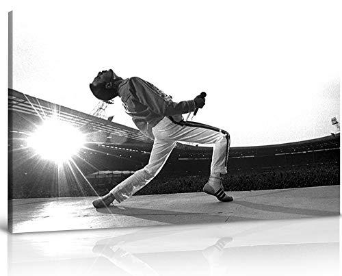 Grande tela con Freddie Mercury, stile galleria, 76,2 x 40,6 cm