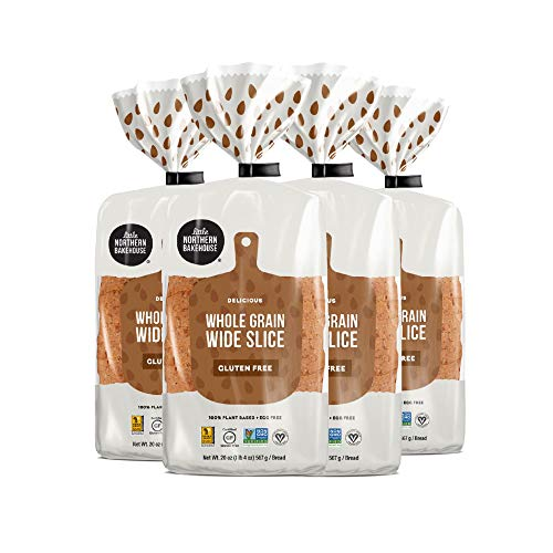 Little Northern Bakehouse Gluten Free Wide Sliced Whole Grain Bread, Non-GMO and Allergy-Friendly (4 pack, 20 oz. each)