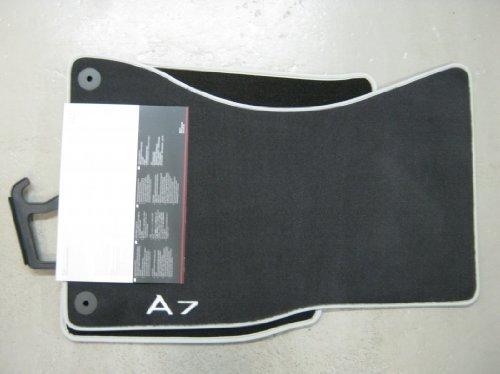 Genuine Audi Accessories 4G8061275MNO Front Premium Textile Floor Mat for Audi A7