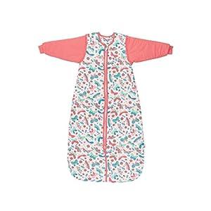 Schlummersack Saco de dormir infantil para todo el año, forrado en 2,5 tog, con mangas extraíbles, diseño de mariposas…