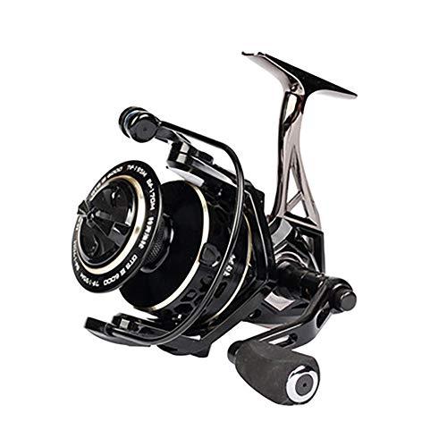LXJ-KLD Vollmetall Angeln Rad Seegestänge Angelrute Rad werfen, schoss lang alle Metalle Spinnrad rotierendes Rad ultraleichtes Karpfenangelns Rad Süßwasser