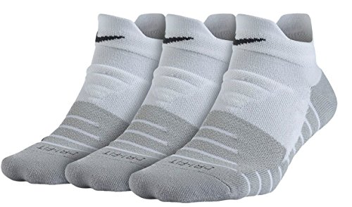 Nike Women's Dry Cushion Low Training Sock (3 Pair) Socks, Mujer, Blanco/Gris Lobo/Antracita, S
