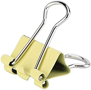 fosa Colorful Metal Binder Clips Protable 60/24 Clips Paper Clip Long Tail Binder for Documents Stationary School Office F...