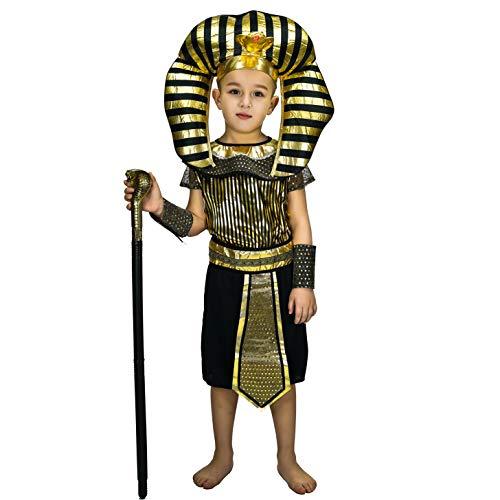 SEA HARE Disfraz de faraón Egipcio para niños (M:7-9 años)