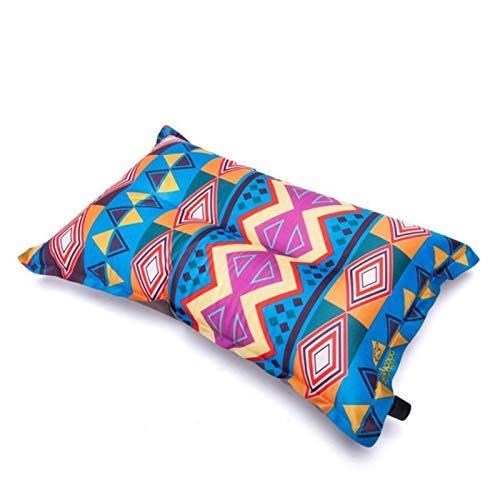 WEARRR Almohada Inflable automática Viajes al Aire Libre Senderismo Camping Beach Cushion Cabeza de Coche Reposar de Doble Cara portátil Plegable (Color : A)