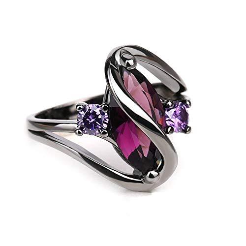 N / A Nigoz - Anillo de compromiso para mujer, con diamantes de imitación, duradero, práctico y económico