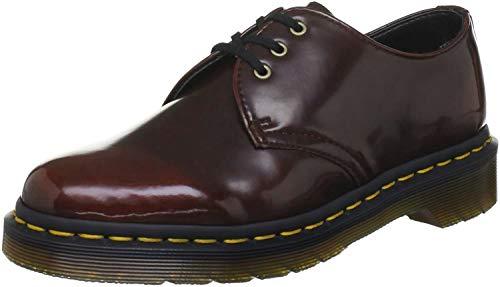 Dr. Martens - Chaussure Homme Vegan 1461 3 Eye, 47 EUR, Cherry Red Cambridge Brush
