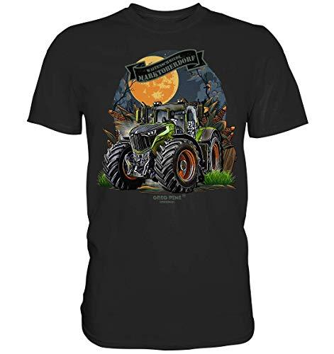 GREG PINE Waffenschmiede Marktoberdorf Traktor Schlepper Trecker Trekker Vario stufenlos Joystick Fahrpedal Landmaschinen Lohnunternehmen Lohner Agrar Landwirtschaft Technik-Fan T-Shirt Herren Unisex