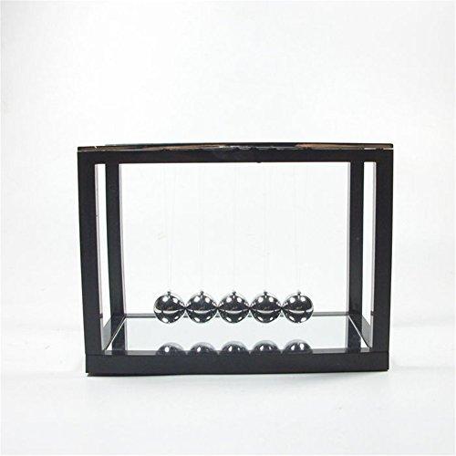 PROW® Newton Berceau with Mirror Métal Pendule la Balle Balançoire Amusement Jouets d'enseignement créatif (Noir)