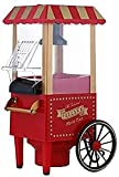 Makcorn Maker, máquina de maquinaria de Palomitas de Palomitas de maíz Vintage roja No se Necesita Aceite para la Fiesta de...