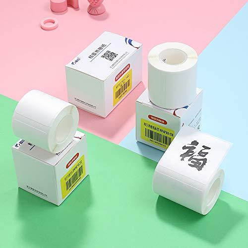 Walory Papel Térmico, Papel de impresión térmica en blanco blanco Rollo Código de barras Precio Tamaño Nombre Papel de etiqueta Impermeable a prueba de aceite Resistente a la rotura 30 * 15 mm 46