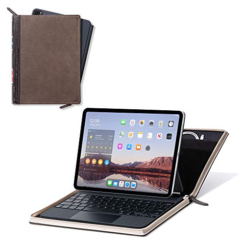 Twelve South BookBook Vol 2 for 11-inch iPad Pro | Hardback Leather Cover with Pencil/Document/Cable Storage for iPad Pro + Apple Pencil,12-2014