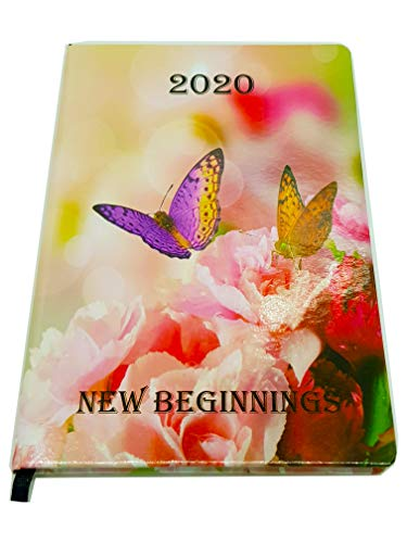 EJRange 2020 Diary Week to View A5 Page Planner Organiser Notebook, Ribbon, Space for Notes, Contacts, Appointments, Calendar (Turquoise)