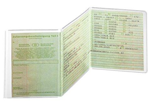 Ausweishülle KFZ-Schein 3-teilig 105x210mm,PP 180my,dokumentenecht (3er Pack)