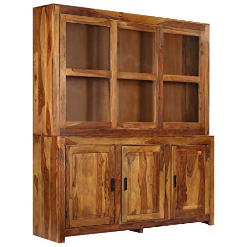 ROMELAREU Highboard Sheeshamhout massief 180 x 45 x 200 cm meubels kasten buffets & dressoirs