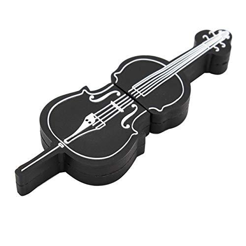 HOUSEHOLD Ceramica Ocarina Flute Comodo da Tenere e PLA Strumenti Musicali Modello pendrive 4GB 16GB 32GB USB Flash Drive Violino/Pianoforte/Chitarra (Capacity : 4GB, Color : Black)