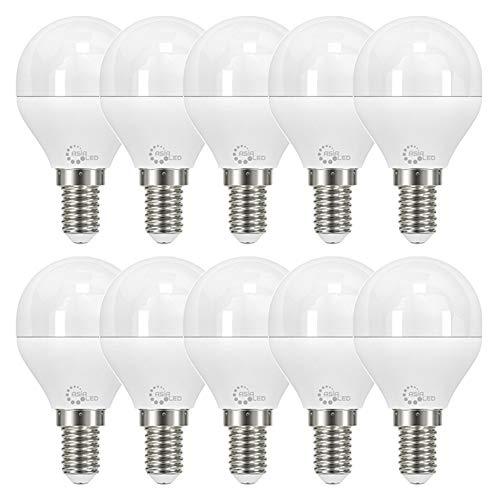 ASIA LED - 10 x Lampadina LED E14 P45 Mini Globo 8W , 800 Lumen, Fascio Luminoso 220°, Non Dimmerabile [Classe di efficienza energetica A+] (Luce Naturale 4000k)
