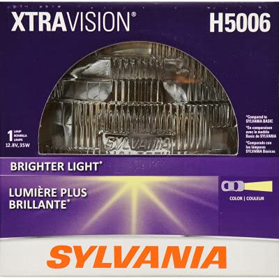 SYLVANIA - H5006 XtraVision Sealed Beam Headlight - Halogen Headlight Replacement Delivers More Downroad Visibility (Contains 1 Bulb)