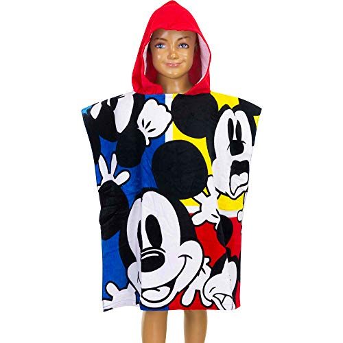 Disney Mickey Mouse - Poncho (60 x 120 cm, 60 x 120 cm, 100% Katoen)