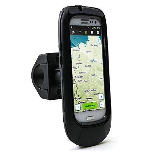 Arendo - wasserdichte Fahrradhalterung für Samsung Galaxy S3 - Fahrrad Case Tasche - Handy Smartphone-Halterung - einfache Bedienung - sichere Befestigung - optimal geeignet für Bike Navigation