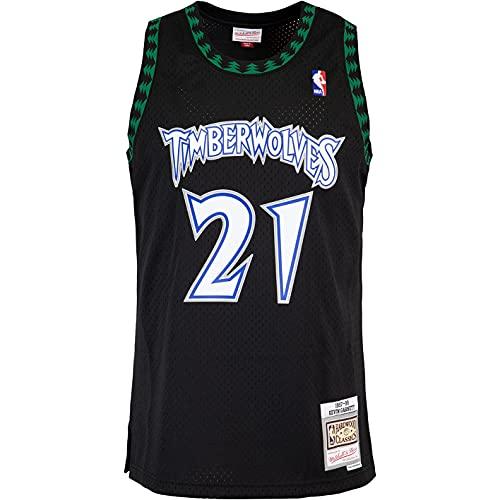 Mitchell & Ness Swingman Kevin Minnesota Timberwolves 97/98 Camiseta (XXL, negro)