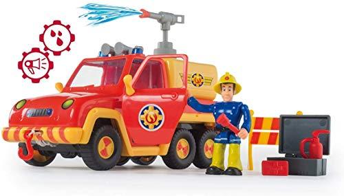 Smoby - Sam le Pompier - Pick Up Vénus - Fonction Lance à Eau - 4 Accessoires + 1 Figurine Incluse - Piles Incluses - 109257656002
