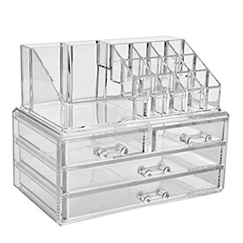 ZYM 1pc Acryl kosmetischer Speicher-Organisator Schmuck und Kosmetik-Aufbewahrungsbehälter mit...