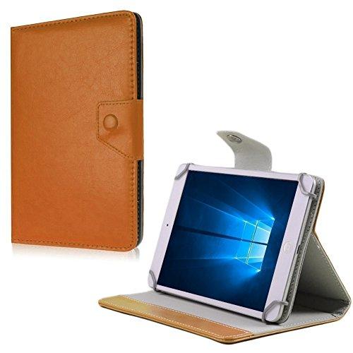 NAUC Medion Lifetab X10302 P10400 P10506 Tablet Tasche Hülle Schutzhülle Hülle Cover, Farben:Braun