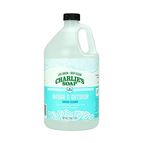Charlie's Soap Indoor & Outdoor Surface Cleaner Refill (1 Gallon, 1 Pack) Natural Outdoor Cleaning Spray – Safe for Indoor Use – Non-Toxic and Biodegradable