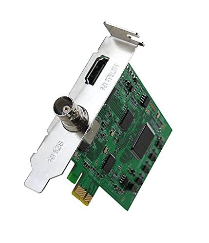 Y&H Tarjeta de Captura de Video Entrada de señal SDI HDMI, Tarjeta de Captura PCIE 4K/1080P,Transmisión en Vivo a PC para cámara de Seguridad,DSLR,Videocámara,Cámara,Nintendo Switch,XboxOne,PS4/5