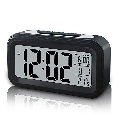Reloj Despertador Digital LED Con Repetición, Despertador Digital Junto a La Cama Con Luz De Fondo / Repetición / Luz Nocturna / Pantalla Grande Para Personas