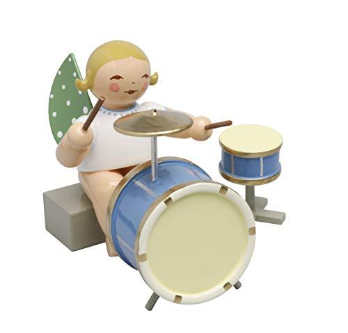 Wendt & Kühn 650/44a Engel mit zweiteiligem Schlagzeug, sitzend