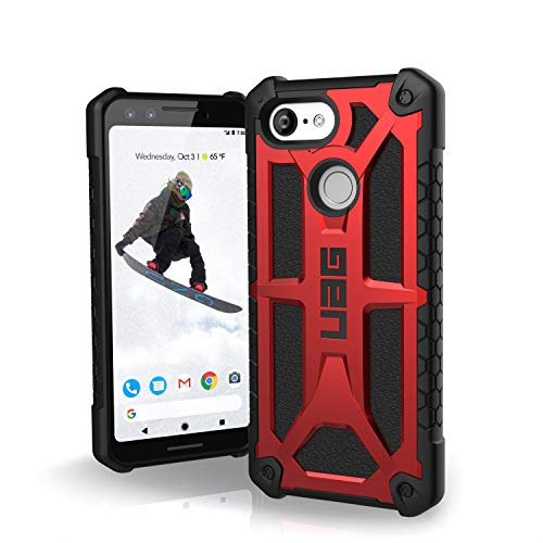 URBAN ARMOR GEAR UAG Made for Google Pixel 3 [5.5-inch screen] Monarch Feather-Light Rugged [Crimson] Military Drop Tested Case
