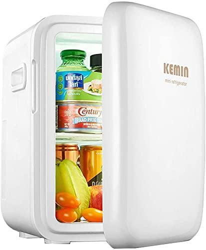 TANKKWEQ Mini refrigerador de 8 litros / 11 latas Más Fresco y Calentador, Mini Tor portátil AC/DC para automóviles y hogares, Mini Nevera para Skincare & Cosmetics, Incluyen estantes extraíbles, Mo