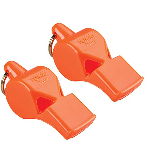 Fox 40 Pearl Whistle Referee Safety Alert, Dog, Rescue, Outdoor-Orange (2-Pack)