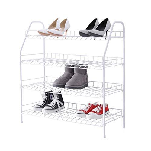 SHBV Zapatero Zapatero de Metal de 4 Niveles Estante para Zapatos de Simplicidad Moderna Estante para Zapatos de fácil Montaje Organizador de Almacenamiento de Zapatos Accesorios para el hogar Za