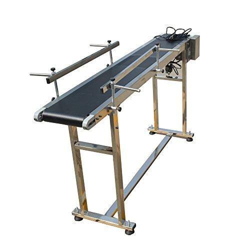 TECHTONGDA PVC Flat Conveyor Belt Systems for Industrial Transport Conveyor Length 59inch Belt Width 7.8inch 110V