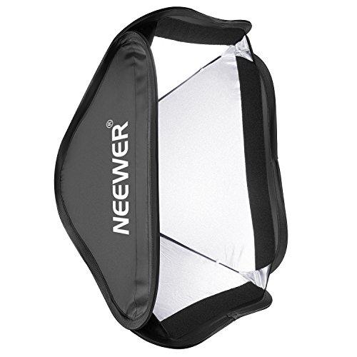 Neewer Plegable Luz 60X60Cm Rápidamente Plegable Difusor para Fotografía Speedlite Flash Estudio Fotográfico Fit Soporte Tipo S, Bowens, Elinchrom Mount (Sólo Luz Incluido)