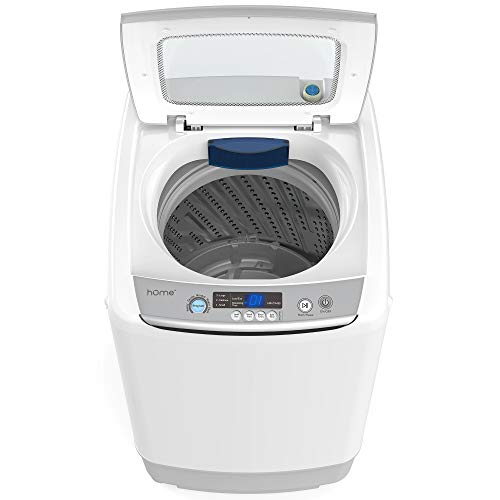 hOmeLabs Portable Washing Machine - 6 Pound Load Capacity, 0.9 Cubic Foot Interior, Top Loading, 5 Wash Cycles, and LED Display - Perfect for Apartments, RVs and Small Space Living