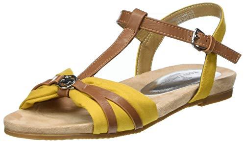 Tom Tailor Damen 8092209 Riemchensandalen, Gelb (Yellow 00260), 38 EU