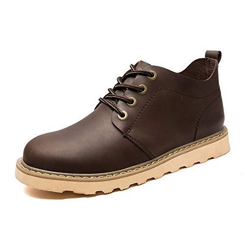DADIJIER Oxford Schuhe Für Männer Formelle Schuhe Schnüren Stil Pferd Haut Reine Farben Gummi Außensohle Britischen Stil Abriebfeste (Color : Beeswax Color, Größe : 43 EU)