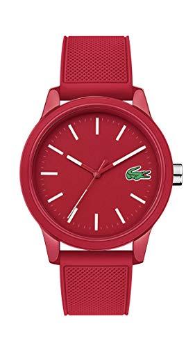 Lacoste Reloj casual de cuarzo TR90 y correa de goma para hombre L.12.12 (modelo: 2010988)