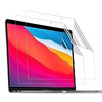 TOWOOZ Macbook Pro/Macbook Air フィルム 13 インチ M1チップモデル PET製 超薄 99%高透過率 高光沢 2016-2020 Macbook Pro/Macbook Air フィルム 目に優しい 指紋防止 2枚入り