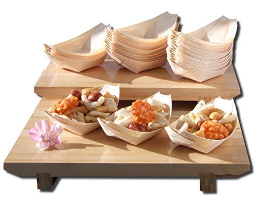 Goto - Lote de 200 Barcos de Madera de bambú para Fiestas, Aperitivos, Bolitas, canapé de 115 x 75 mm, por Favor, Comprueba el tamaño Antes de Realizar el Pedido.
