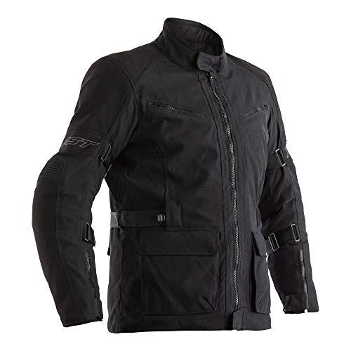 RST Motorradjacke Pro Series 2192 Raid Motorrad CE Touren Textil Jacke wasserdichte Winterjacke fur Herren, Sinaqua Pro Membrane, Schwarz/Military Grun (Schwarz - 50)