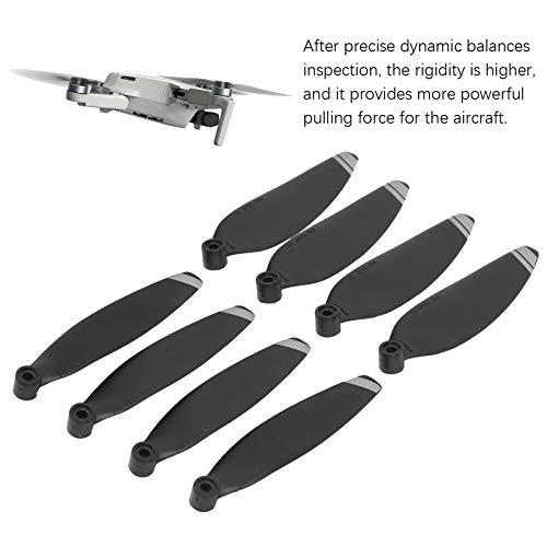 2 Paar Drone Propeller, PC Drone Propeller Set Drohnenzubehör Kompatibel mit DJI Mavic Mini 2(Silber)